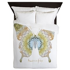 Haven Pastel Butterfly Queen Duvet