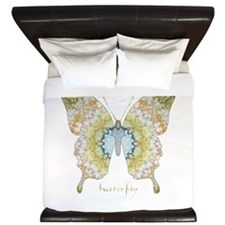 Haven Pastel Butterfly King Duvet