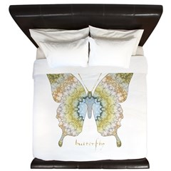 Haven Pastel Butterfly King Duvet