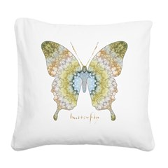 Haven Pastel Butterfly Square Canvas Pillow