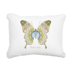 Haven Pastel Butterfly Rectangular Canvas Pillow