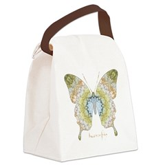 Haven Pastel Butterfly Canvas Lunch Bag