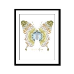 Haven Pastel Butterfly Framed Panel Print