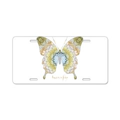 Haven Pastel Butterfly Aluminum License Plate