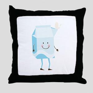 Happy Milk Throw Pillow