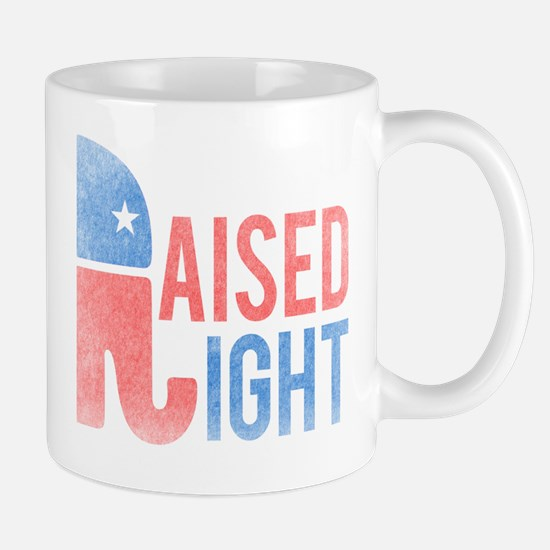 Raised Right Vintage Mug