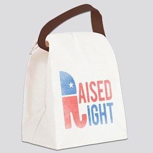 Raised Right Vintage Canvas Lunch Bag