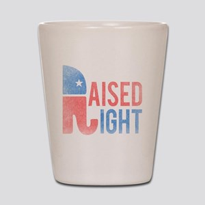 Raised Right Vintage Shot Glass