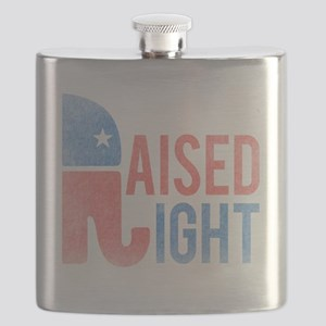Raised Right Vintage Flask