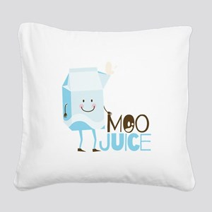 Moo Juice Square Canvas Pillow