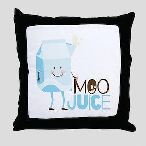 Moo Juice Throw Pillow