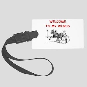 harness racing Luggage Tag