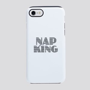 Nap King - Gray iPhone 7 Tough Case