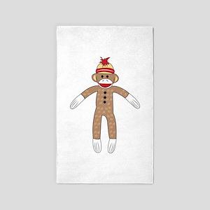 Sock Monkey 3'x5' Area Rug