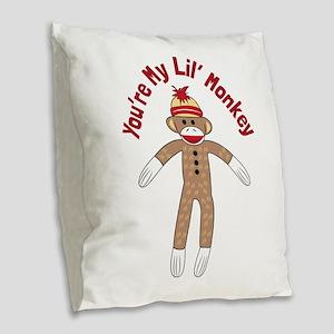Im Bananas Burlap Throw Pillow