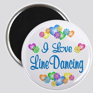 I Love Line Dancing Magnet