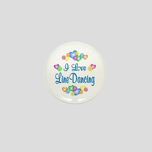 I Love Line Dancing Mini Button