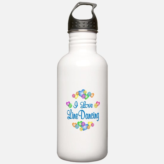 I Love Line Dancing Water Bottle