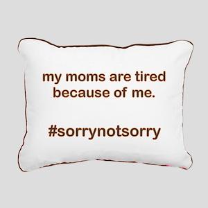 Sorrynotsorrymoms Orange Rectangular Canvas Pillow