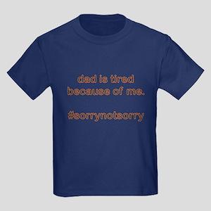 Sorrynotsorrydad Orange Kids Dark T-Shirt