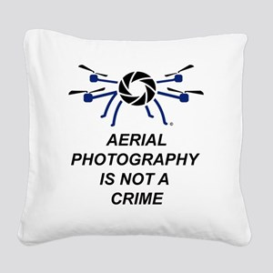 No Crime Square Canvas Pillow