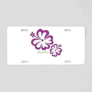 chosen love - budding love Aluminum License Plate