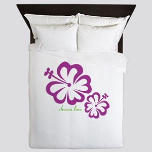 chosen love - budding love Queen Duvet