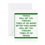 tennis Greeting Cards
