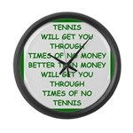 tennis Large Wall Clock