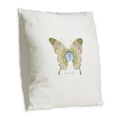 Haven Butterfly Burlap Throw Pillow