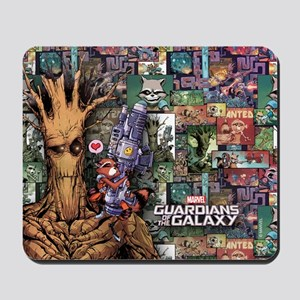 Groot Rocket Comic Mousepad