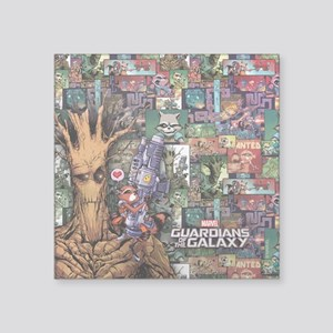 "Groot Rocket Comic Square Sticker 3"" x 3"""