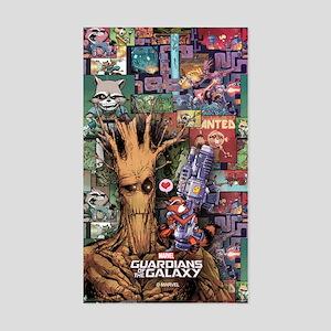 Groot Rocket Comic Sticker (Rectangle)