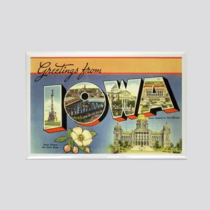 Greetings from Iowa Rectangle Magnet (10 pack)