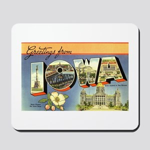 Greetings from Iowa Mousepad
