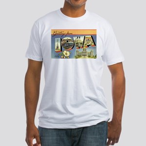 Greetings from Iowa Fitted T-Shirt