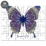 Insomnia Purple Butterfly Puzzle