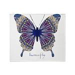 Insomnia Purple Butterfly Throw Blanket