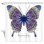 Insomnia Purple Butterfly Shower Curtain
