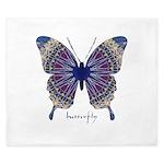 Insomnia Purple Butterfly King Duvet