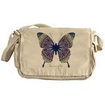 Insomnia Purple Butterfly Messenger Bag