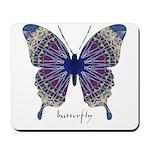 Insomnia Purple Butterfly Mousepad