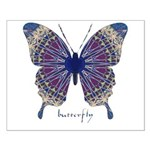 Insomnia Purple Butterfly Small Poster