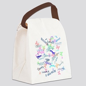 Dancing with butterflies Canvas Lunch Bag