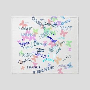 Dancing with butterflies Throw Blanket