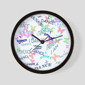 Dancing with butterflies Wall Clock