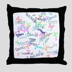 Dancing with butterflies Throw Pillow