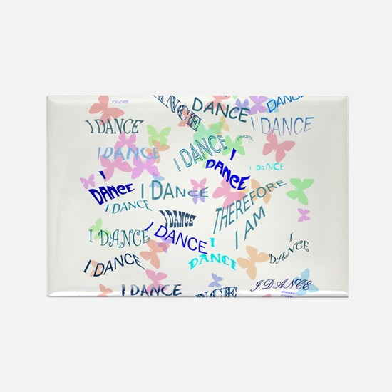 Dancing with butterflie Rectangle Magnet (10 pack)