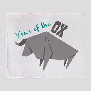 Year of the Ox Throw Blanket