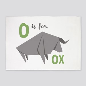 O Is For Ox 5'x7'Area Rug